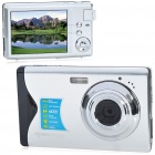 "8.1MP CMOS Compact Digital Video Camera with 4X Digital Zoom/USB/SD - Silver (3.0"" TFT LCD)"