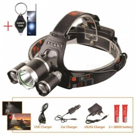 AIBBER TONE LED Headlight, 12000 Lumen 3 x XML T6 LED Head Lamp Flashlight