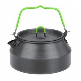 OUT-D Portable Lightweight Hard Anodized Aluminum 0.8L Tea Kettle Outdoor Camping Picnic Cookware