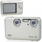 "720P Dual Lens 5.0MP CMOS 3D/2D Compact Video Camera with HDMI/AV/USB/TF (2.8"" LCD)"
