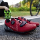 SOUBU R023 Outdoor Cycling Road Bike Lock Shoes Breathable Light Bicycle Shoes With Reflective Stripes Silver/9.5