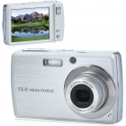 "5.0MP CCD Compact Digital Video Camera with 3X Optical Zoom/USB/SD - Silver (3.0"" Touch Screen)"