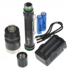 TrustFire X8 5-Mode 1000-Lumen Memory White LED Flashlight with Batteries Set (2x18650)