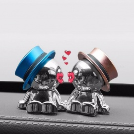 Aluminium Alloy Phone Tablet Magnetic Car Phone Holder Creatived Crazy Hat Design 360 Degree Rotatable Doll Phone Stand Red
