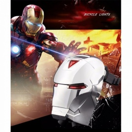 Bicycle Laser Tail Lights Mountain Bike Iron Man Style Warning Light Bike Cycling Equipment Accessories Red