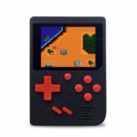 Handheld Game Console, AV Out Gaming Machine w/ Built-in 129 Classic Games - Black