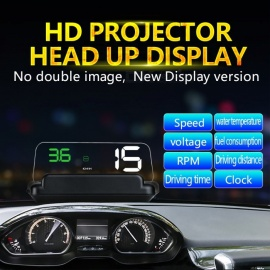 C500 OBD2 hud head-up display med speilprojeksjon