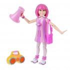 Lazy Town Talking and Moving Action Stephanie Figure Toy - Pink