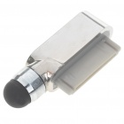 Touchpad Stylus Pen with Data Port Anti-Dust Plug for Iphone 3g/3GS/4 - Silver