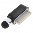 Touchpad Stylus Pen com Data Port anti-poeira plug para iPhone 3G/3GS/4 - Preto