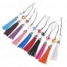 Crystal+ PU Leather Cell Phone Strap - Color Assorted