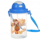 Cartoon-Figur mit Wasser Cup Cover + Stroh + Strap (450ml)