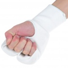 Elasticated Karate Sparring Punching Gloves - White (Size M/Pair)