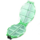 Portable Turtle Shaped 12-Compartment Plastic Fishing Tackle Box - Green