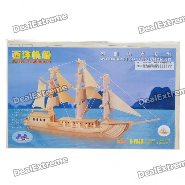 Woodcraft 3D European Sailing Boat Jigsaw Puzzle