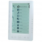 "7.0"" TFT LCD E-Book Reader 720P Music/Video Media Player w/ Voice Recorder/FM/TF - White (4GB)"