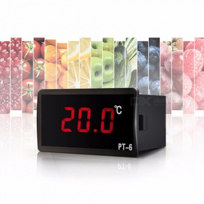 PT-6 Portable Mini LCD Digital Thermometer For Fridge Freezer Cooler Aquarium Chiller Black (220V)