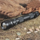 TANK007 PT11L XPG-R5 5-Mode 320-Lumen White LED Flashlight with Strap - Black (2 x 18650)