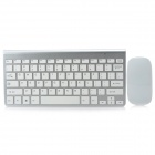Rechargeable 78-Key Ultra-Slim Wireless Keyboard + Batteries Power Wireless Mouse Set (2xAAA)