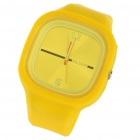 Fashion Sporty Silicone Quartz Wrist Watch - Yellow (1*377)