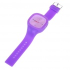 Fashion Sporty Silicone Quartz Wrist Watch - Purple (1*377)