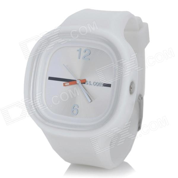 Fashion Sporty Silicone Quartz Wrist Watch - White (1*377)