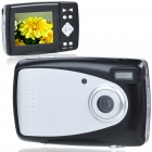 "DC130 3.0MP CMOS Compact Digital Video Camera with 8X Digital Zoom/USB/SD (2.4"" TFT LCD)"
