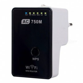 trådlös router support wi-fi IEEE 802.11 ac / b / g / n router / AP / repeater 750M dubbel frekvens bekväm strömbrytare
