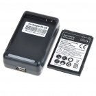 3.7V 1600mAh Battery with Battery Charger for HTC EVO SHIFT 4G