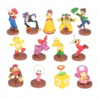 Cute Mini Super Mario Figure Toys Set - Style Assorted (13-Piece Pack)