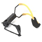 Professional Metal Slingshot Launcher with Support - Black + Yellow