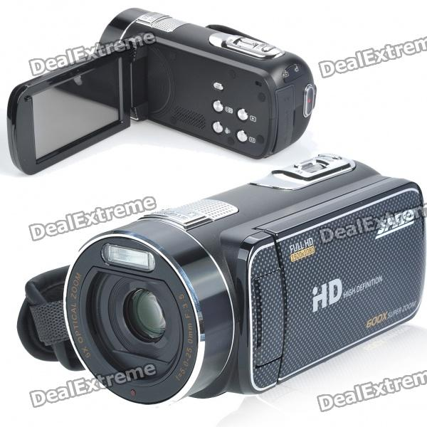 "1080P 5MP CMOS Digital Video Camcorder w / 120x digitaler Zoom / USB / TV-Out / HDMI / SD (3 ""TFT-Touch-Screen)"