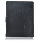 Protective Woven Mat Style PU Leather Case for   Ipad 2 - Black
