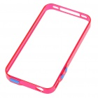 0.4mm Ultrathin Protective Bumper Frame Case + Full Body Guard + Cloth + Stand for Iphone 4 - Red