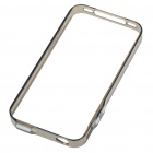 0.4mm Ultrathin Protective Bumper Frame Case + Full Body Guard + Cloth + Stand for iPhone 4 - Gray