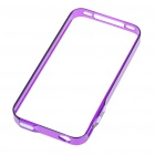 0.4mm Ultrathin Protective Bumper Frame Case + Full Body Guard + Cloth + Stand for iPhone 4 - Purple