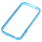 0.4mm Ultrathin Protective Bumper Frame Case + Full Body Guard + Cloth + Stand for Iphone 4 - Blue
