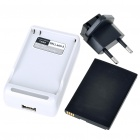 USB/AC Battery Charging Cradle + 3.7V 1530mAh Battery + EU Adapter for Dell Mini 5/Streak