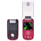 "2,4 ""Touch Screen Dual SIM Dual Network Standby Quadband GSM TV Cell Phone w / Wi-Fi + JAVA - Red"