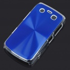 Protective PC + Aluminum Backside Cover for BlackBerry 9700 - Blue