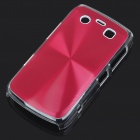 Protective PC + Aluminum Backside Cover for BlackBerry 9700 - Red