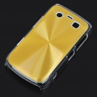 Protective PC + Aluminum Backside Cover for BlackBerry 9700 - Golden