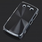 Protective PC + Aluminum Backside Cover for BlackBerry 9700 - Black