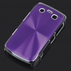 Protective PC + Aluminum Backside Cover for BlackBerry 9700 - Purple