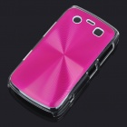 Protective PC + Aluminum Backside Cover for BlackBerry 9700 - Pink