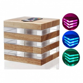 Novelty Colorful LED Acrylic / Wooden Cube Light