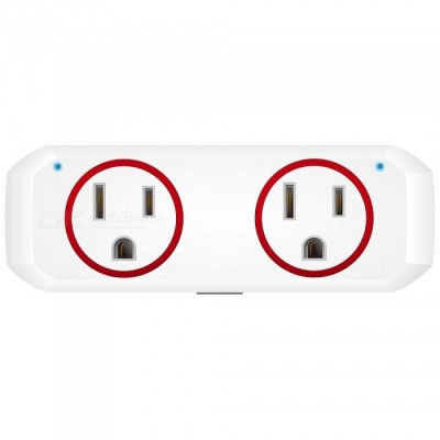 OUKITEL P1 Wi-F Mini Smart Plug Socket, Works with Alexa Echo Google Home and IFTTT - Red