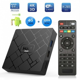 Android 8.1 HK1 MAX 4B RAM, 32GB ROM RK3328 Chip 4k Network Player Set-top Box US Plug