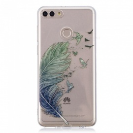 ESAMACT High Quality TPU Mobile Phone Case for Huawei Y9 - Feather Pattern