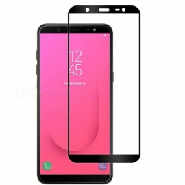 Naxtop Full Tempered Glass Screen Protector for Samsung Galaxy J8 (2018) EU Version - Black